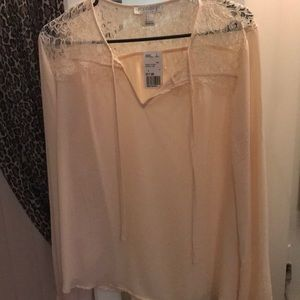 SEASHELL PINK COLORED LONG SLEEVE TOP NEVER WORN